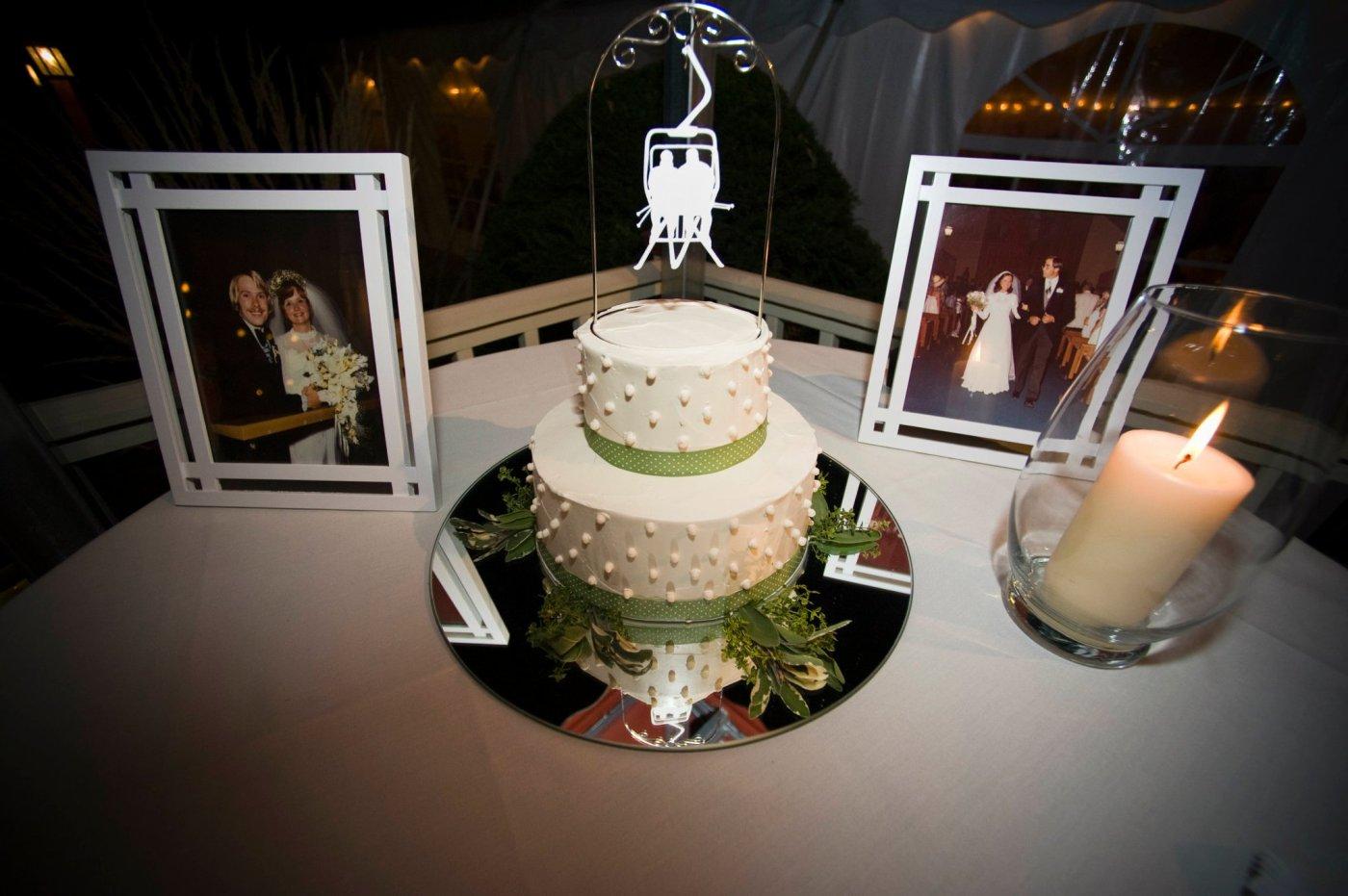 Ski Cake Topper