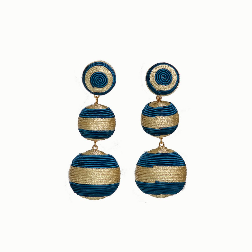 Striped 3 Drop Earrings