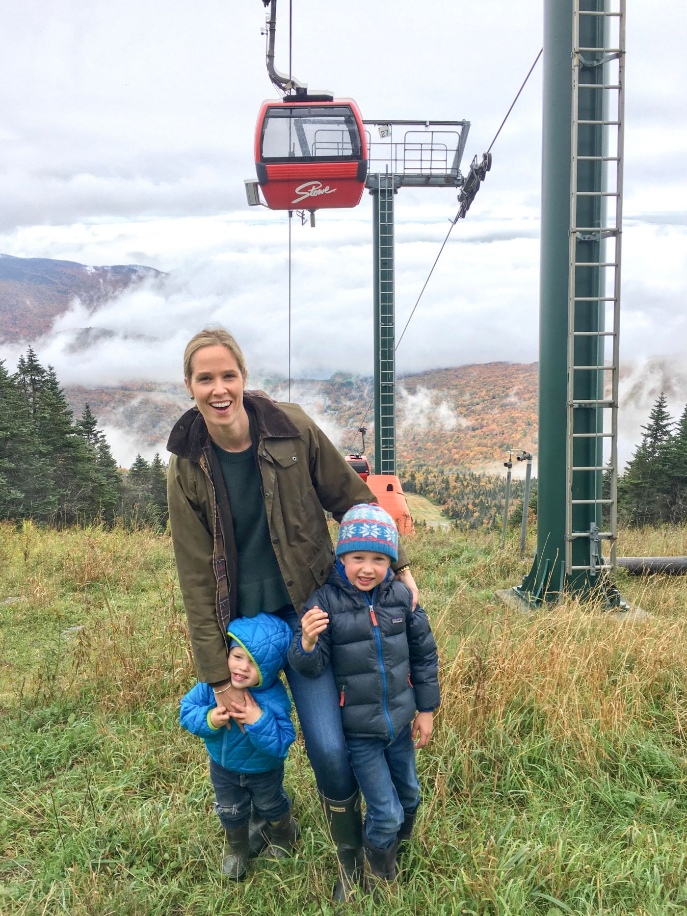 Gondola in the Fall with boys
