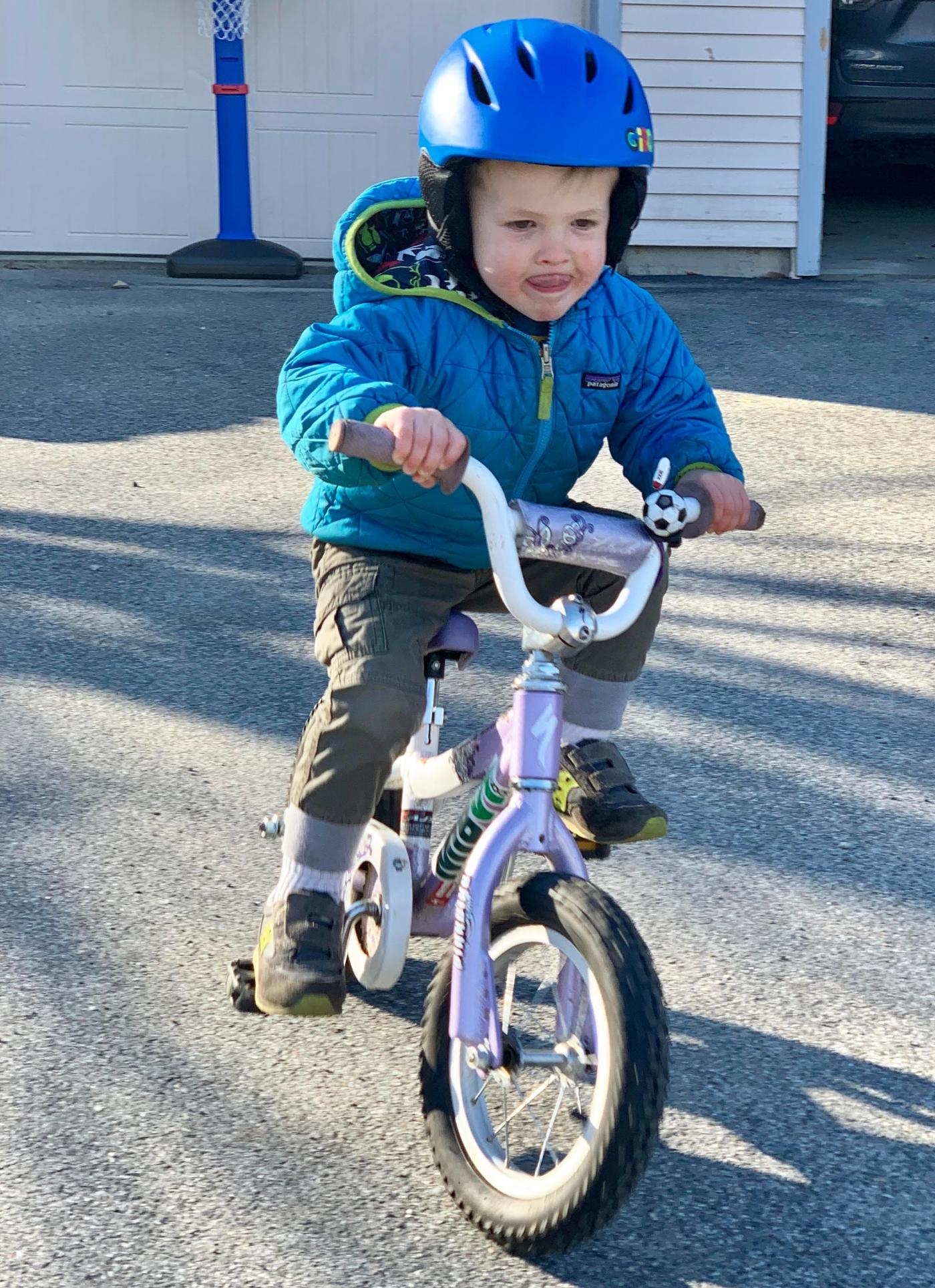 Dawson 1st Day Biking
